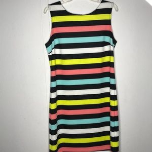 Worthington | multi color striped dress